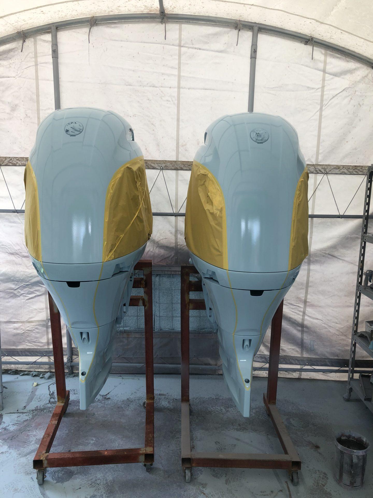 TIDEWATER252ccカスタム-11 船外機塗装